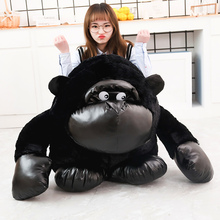 Stuffed Animal Strong Gorilla King Kong Plush Toy Simulation Chimpanzees Toys For Children scary gorilla king kong figure mask headgear style assorted