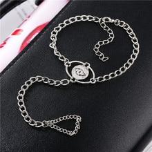 Vintage Men Women Punk Finger Ring Bracelet Eys Pattern Round Charm Link Chain Bracelet Ring Jewelry mikhail moskvin mikhail moskvin 46556158
