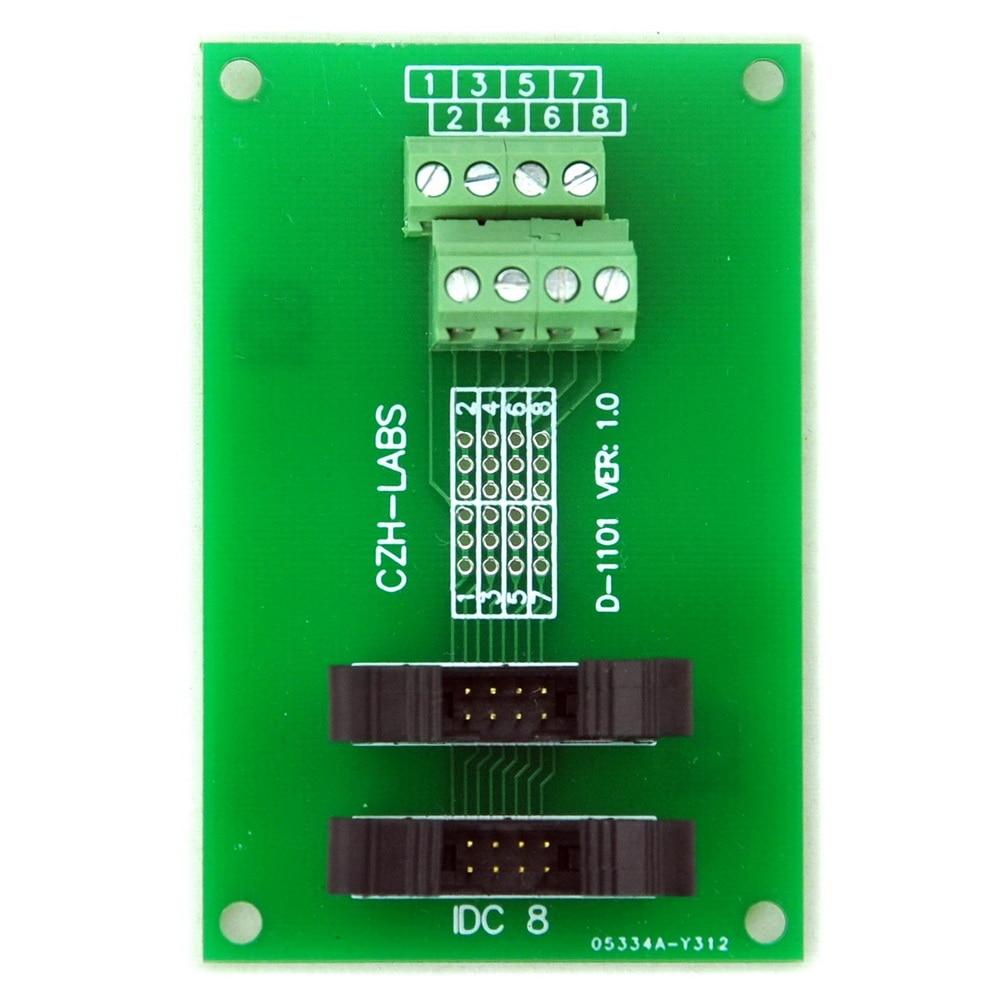 IDC-8 2x4pins 2.0mm Dual Male Header Breakout Board, Screw Terminal Connector.IDC-8 2x4pins 2.0mm Dual Male Header Breakout Board, Screw Terminal Connector.