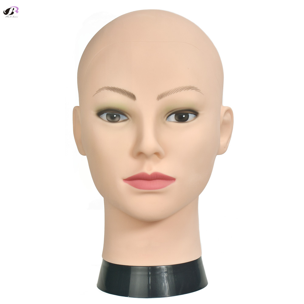 New Arrive Soft PVC Wig Stand Head For Black Woman Wigs Making With A Free Clamp Bald Training Head Mannequin Supply