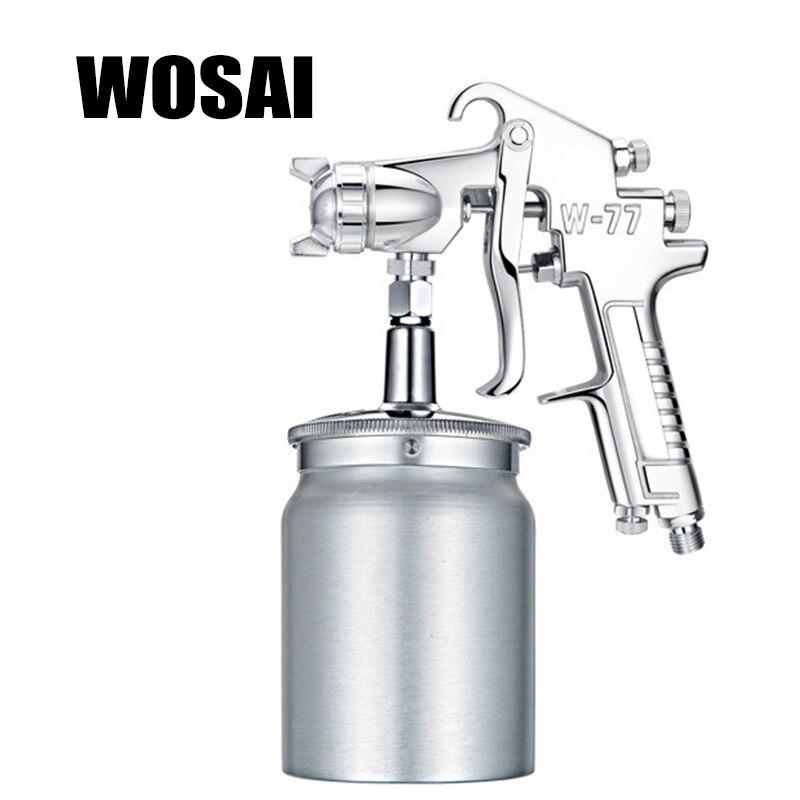 WOSAI 1000 ML Professione Pneumatica Pistola A Spruzzo Spruzzatore Della Lega Aerografo Pittura Atomizzatore Strumento Con Tramoggia Per La Pittura Auto W77
