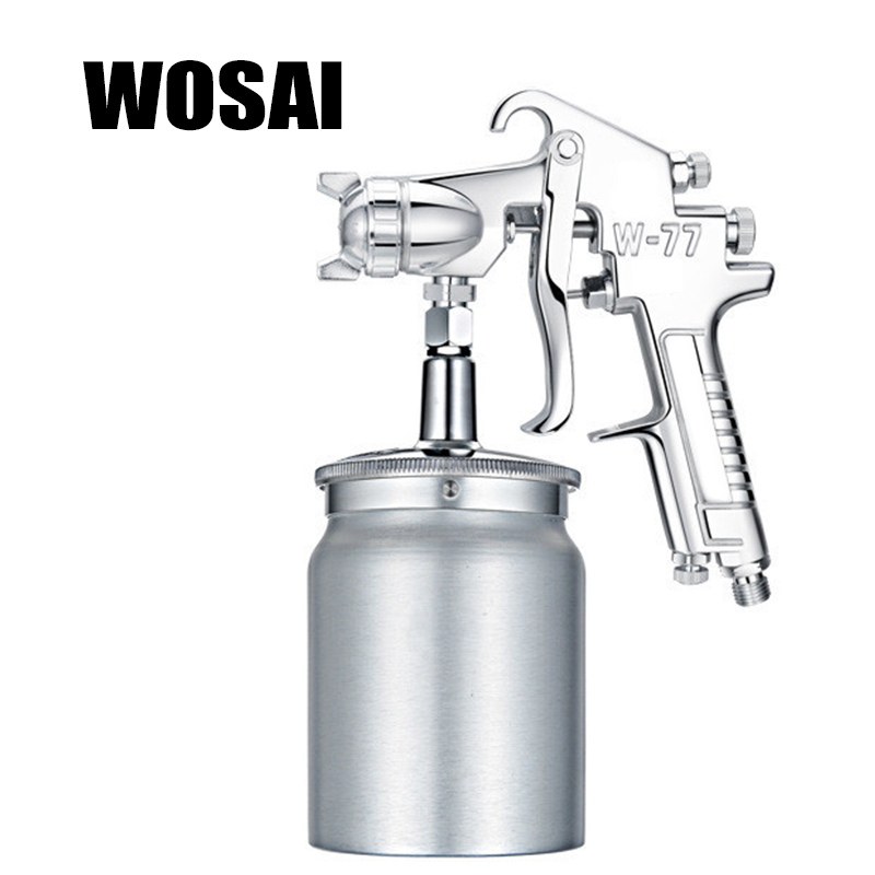 WOSAI 1000ML Profession Pneumatic Spray Gun Airbrush Sprayer Alloy Painting Atomizer Tool With Hopper For Painting Cars W77 стоимость