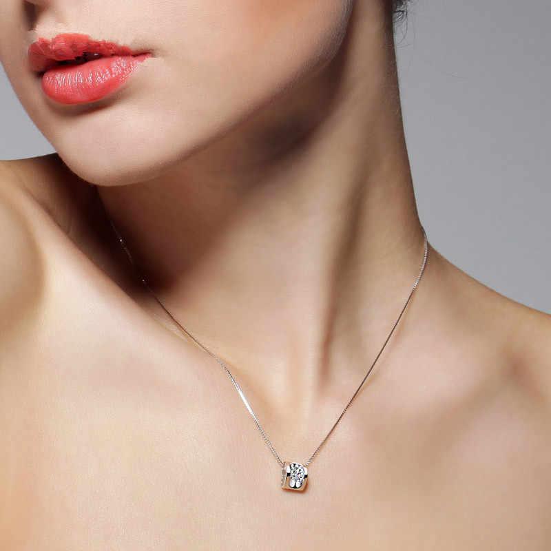 Collares Górnik Maxi Naszyjnik New Design Beautiful 925 Sterling Serce Wisiorek Z Cyrkonią Biżuteria Prezenty Ślubne N151