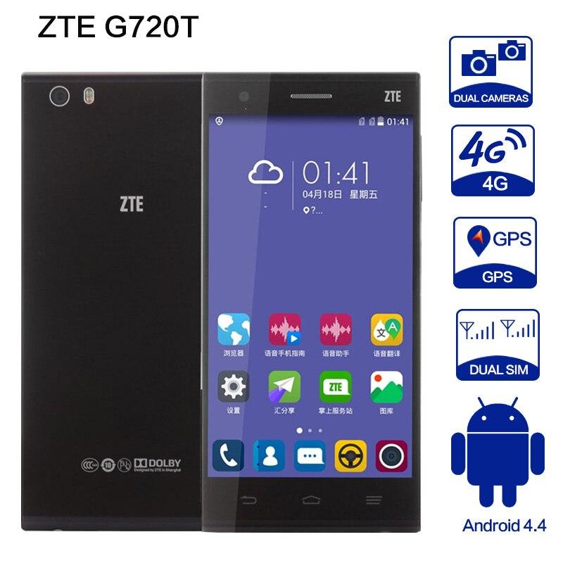 Original zte g720t Mobile Phone snapdragon 615 Ocat Core CPU Smartphone 2GB 16GB 13MP WCDMA GPS