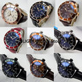Мужские часы BLIGER  повседневные часы с белым циферблатом  розовое золото  коричневый кожаный ремешок  светящиеся автоматические часы в стиле...