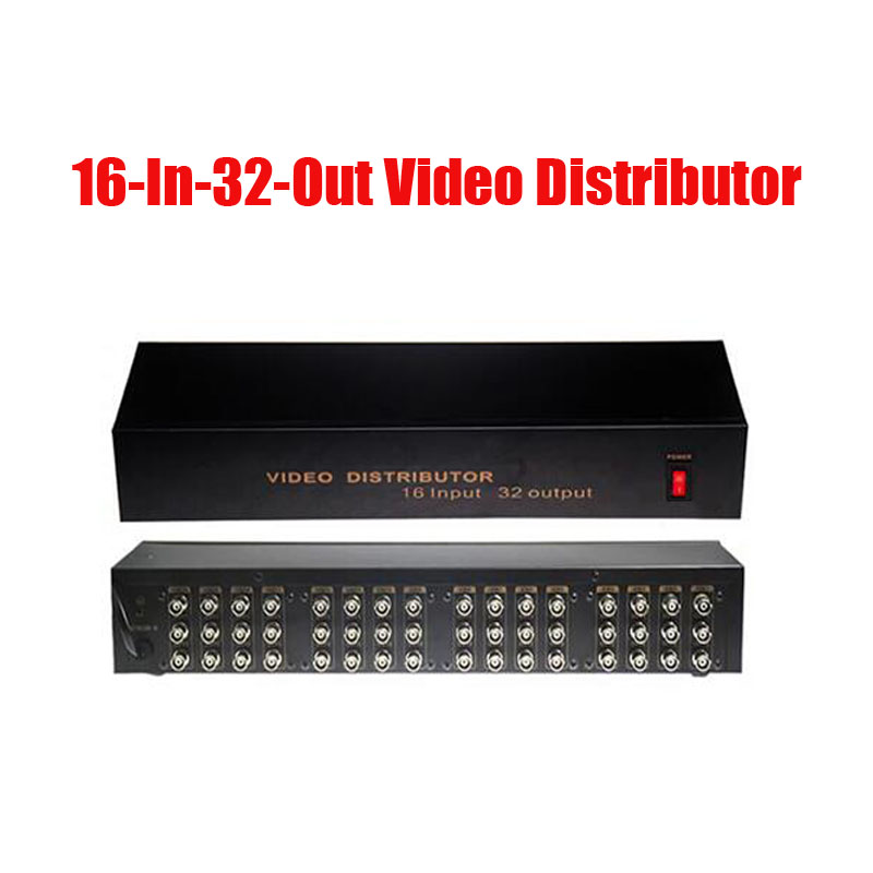 Free Shipping 16 In 32 Out Composite BNC Video Distributor Amplifier 16CH To 32CH Splitter For CCTV Security Camera DVR System bnc video distributor 16 in 64 out composite amplifier 16ch to 64ch splitter for cctv security camera dvr system