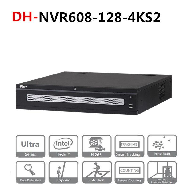 DH 128 canaux Ultra 4 K H.265 enregistreur vidéo réseau DH-NVR608-128-4KS2 avec Logo DH 8 Ports Sata 2 affichage HDMI 12MP