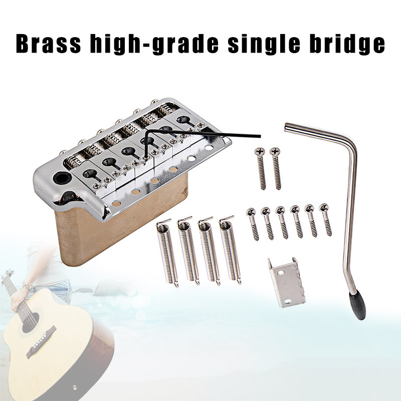 Electric Guitar Tremolo System Bridge Stainless Steel Saddles Musical Instrument Accessories XR-HotElectric Guitar Tremolo System Bridge Stainless Steel Saddles Musical Instrument Accessories XR-Hot