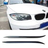 E87 E82 Carbon Fiber car Front Headlight Eyebrows Cover Trim Sticker for BMW E82 E87 2004 2011