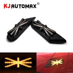 Автомобильный Стайлинг, динамический мигание, боковой маркер, светильник для Mini Cooper R55 R56 R57 R58 R59, светодиодный индикатор поворота, Юнион Джек...