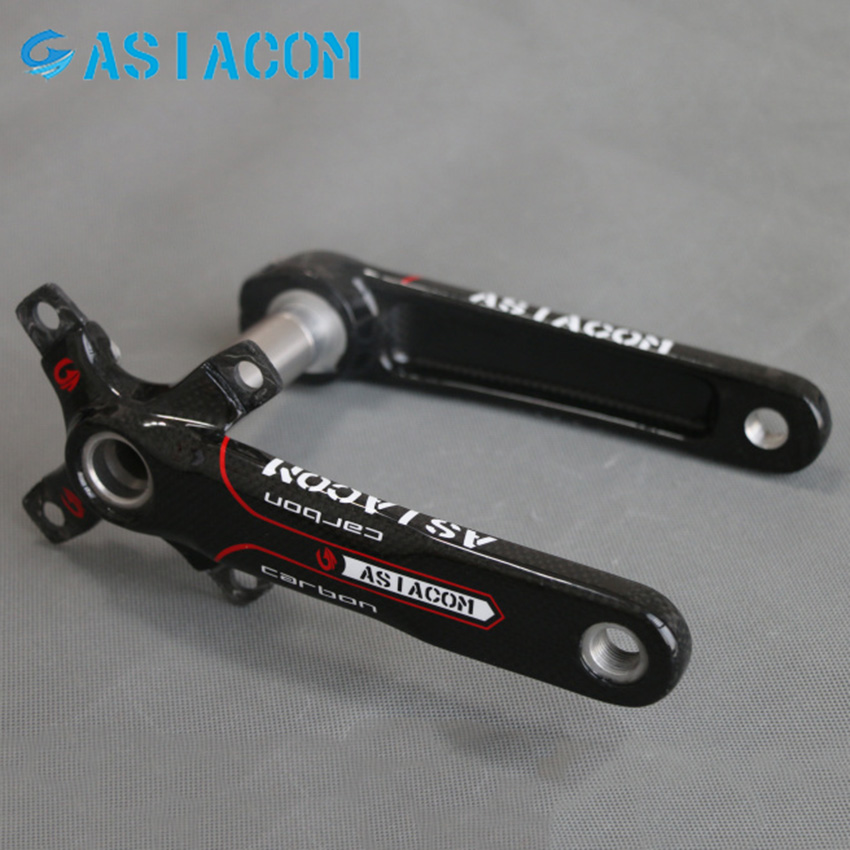 New ASIACOM Full Carbon Fiber Cycling Bicycle Crank MTB Road Bike Crankset Length 170mm Ultra-light Mountain Bicycle Parts new ak88 carbon fiber mountain road bicycle crank crankshaft set