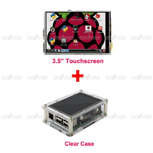 "3.5"" LCD TFT Touch Screen Display for Raspberry Pi 3 / Raspberry Pi 2 Model B Board + Acrylic Case + Stylus"