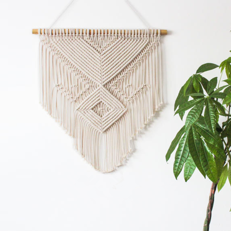 55cm x 70cm Macrame The Nordic style creative wall decorative hand woven cotton tapestry living room