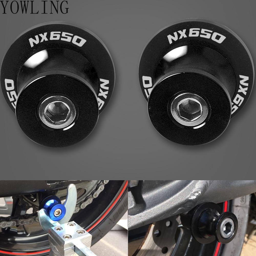 8mm motorcycle accessories stands screws swin garm swingarm spools slider  for honda nx650 nx 650 j-x