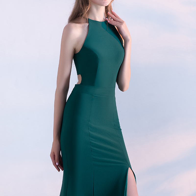 Avant De Backless 1 Vert New Femmes 2 Sans Parti Longue XsXxl Robes Haute Split Maxi Manches 2019 Taille Robe Summer I6yY7vgbf