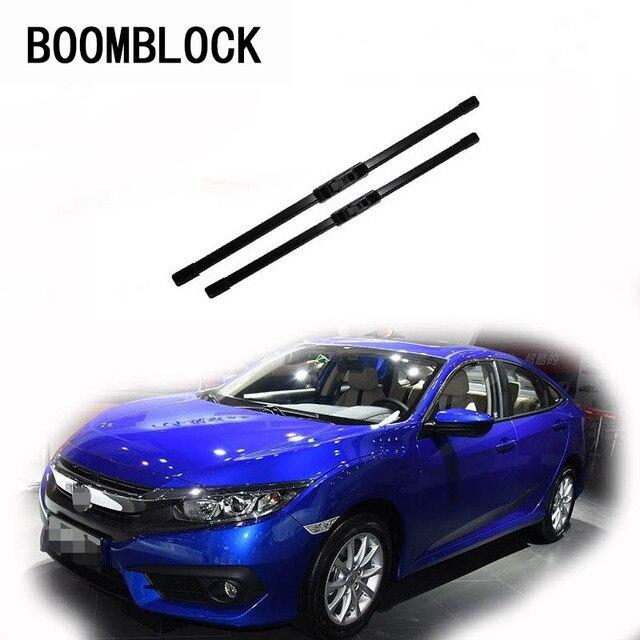 Boomblock 2pcs Car Accessories Windshield Rubber Original Wiper Blades Arm Kit For Honda Civic 2018 2017