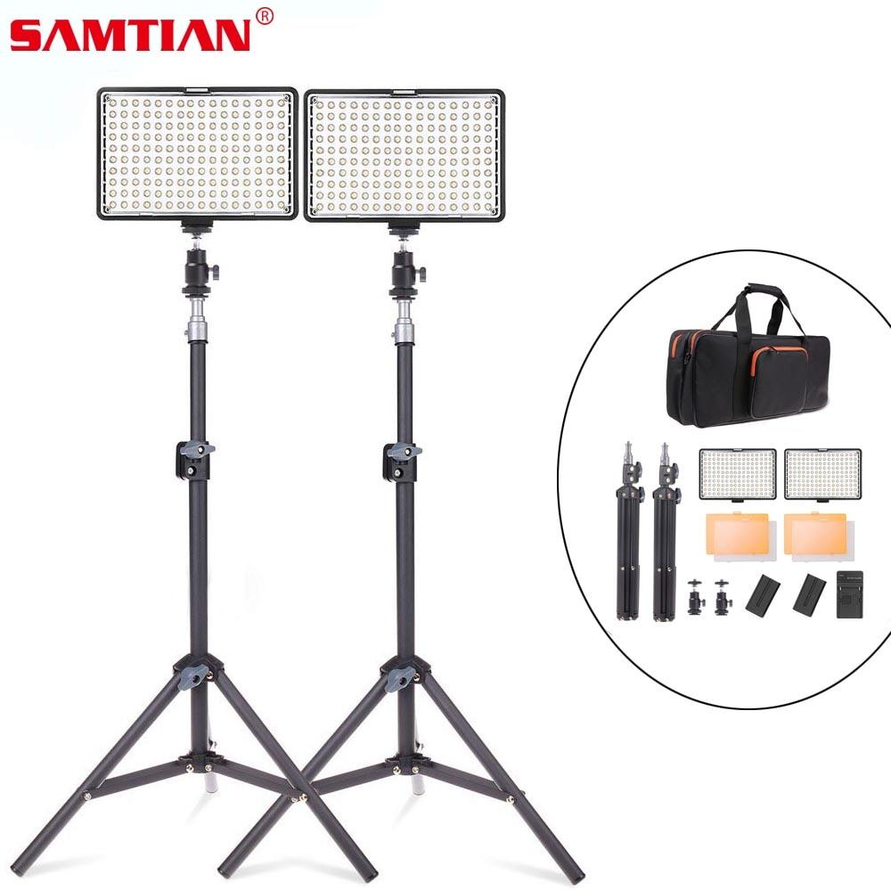 SAMTIAN 2 in 1 Photography Lighting Kit 950 lm 160 LED Camera Video Photo Studio Light