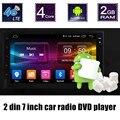 Alta qualidade Android 6.0 Jogador Do Carro DVD 4G wifi GPS suporte para controle de volante rádio câmera traseira toque estéreo tela