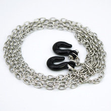 1 10 Scale Metal RC Chain With Hooks 110CM Length RC Crawler Truck Accessories