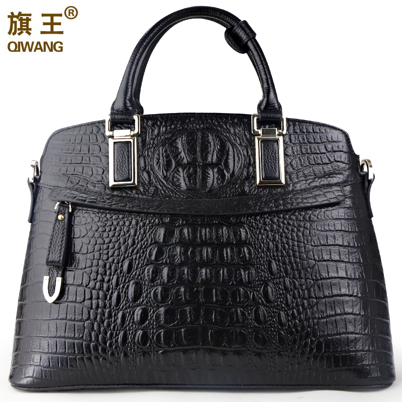 цена Classic Women Messenger Bags 5 Color Crocodile Genuine Leather Handbags Ladies Shell Bag Luxury Handbag Designer bolsa feminina