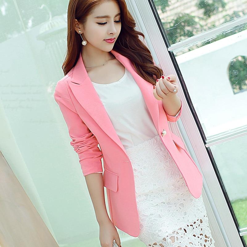 Popular Pink Blazer-Buy Cheap Pink Blazer lots from China Pink ...