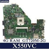 KEFU X550VC Laptop motherboard for ASUS X550VC R510V X550V X550 Test original mainboard 4G RAM GT720M 2G