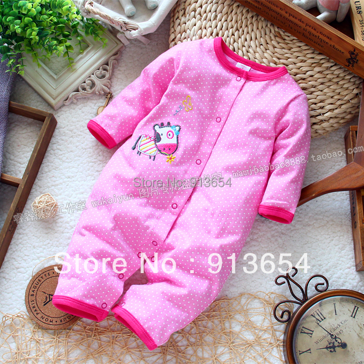 new 2017 spring autumn newborn baby clothes infant rompers baby girl long sleeve dot jumpsuits kids overall baby wear cartoon fox baby rompers pajamas newborn baby clothes infant cotton long sleeve jumpsuits boy girl warm autumn clothes wear