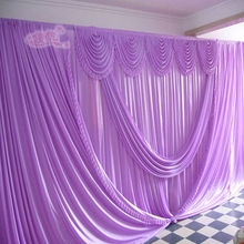 Purple 20ft*10ft falls wedding backdrops ,wedding stage draps color can be customed