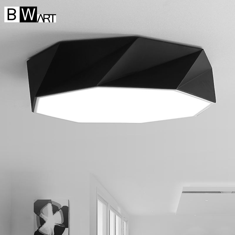BWART Moderne led-deckenleuchte Diamant linien einfache dekoration RC Dimmbare leuchten Für esszimmer bett wohnzimmer deckenleuchte