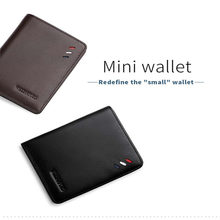 Genuine Leather wallet mens Small Mini Ultra-thin Compact Handmade Cowhide Card Holder Short Designer purse