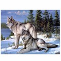 Crafts Diamond Embroidery Wolf Diy Full Diamond Painting Kit 30x40cm for round Drill Rhinestone Pasted Unfinish Room
