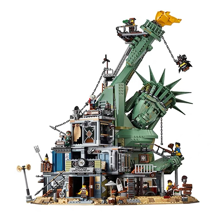 New 45014 MOVIE series The Welcome to Apocalypseburg Model Building Blocks compatible legaoed 70840 classic Architecture