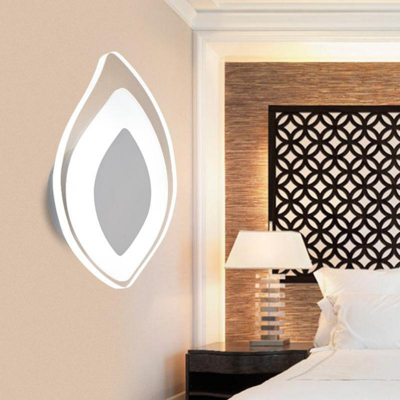 Led Modern Acrylic Lights Wall Lamps Bathroom Mirror Light Stainless Wall Sconce Applique Murale Led Lighting Stairs