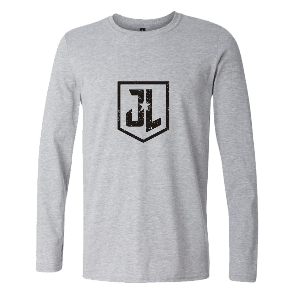 Justice league T-shirts you cant save the world lone printing long sleeve Tidal current men women shirt Justice league