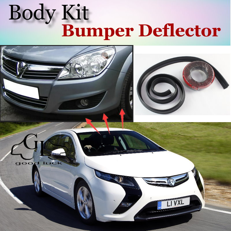 Bumper Lip Deflector Lips For Vauxhall Ampera Front Spoiler Skirt For Car Lip Fans Car Tuning View / Body Kit / Strip|lip bumper spoiler|front bumper spoiler|front bumper lip spoiler - title=