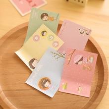1 шт. милый каваи дневник Наклейки девушка 30 Простыни Детские Заметок Post-It Блокнот японский канцелярские принадлежности