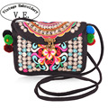 New National Trend Embroidery Bags Double Face Embroidered Messenger Shoulder Bag Ethnic Chinese Casual Small Clutch Handbag