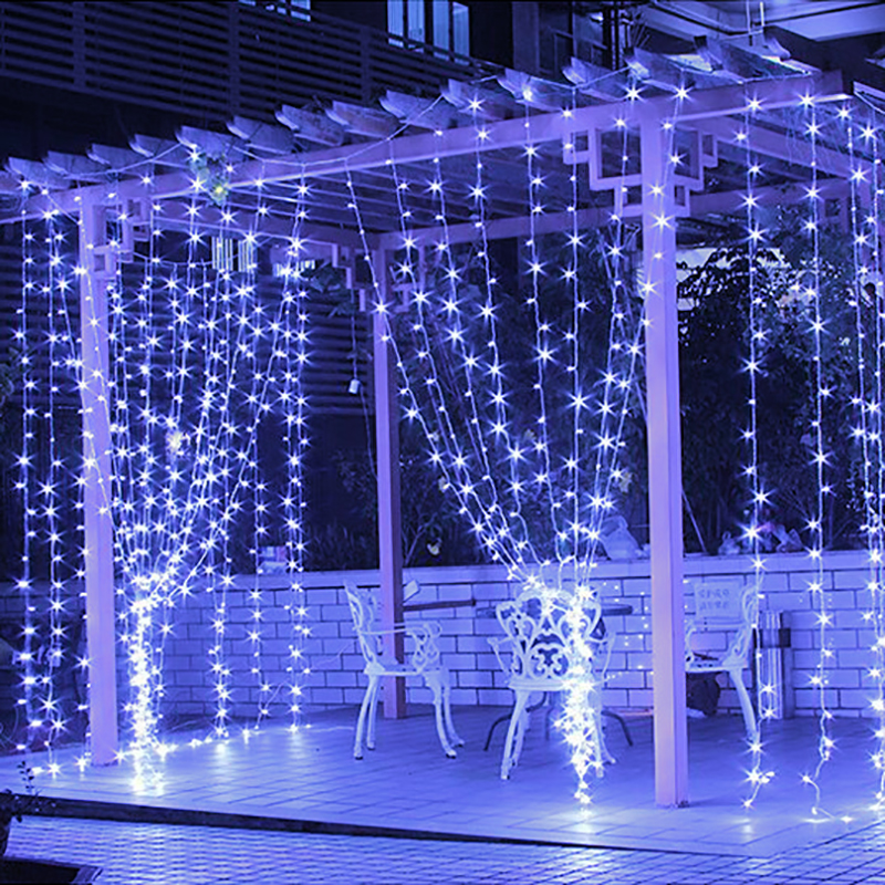 300leds curtain string light remote control fairy lights