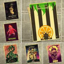 Horror Film Beetlejuice retro poster kraft paper sticker home decoration wall sticker(China)