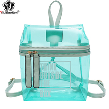 Fashion Clear Backpack Female Brand Pvc Purse Large Capacity Beach Bag Summer Transparent Ladys Bags for Women 2019