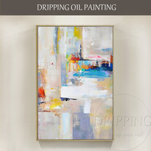 Hot Selling Artist Hand-painted High Quality Abstract Oil Painting on Canvas Handmade Beautiful Light Colors 2 Sets