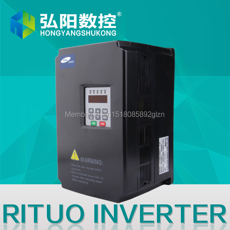 RITUO 5.5KW/7.5kw VFD Frequency Inverter Of  220v 5.5kw VFD Variable Frequency  Inverter