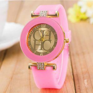 Image 3 - 2018 Nieuwe Eenvoudige Leer Merk Genève Casual Quartz Horloge Vrouwen Crystal Silicone Horloges Relogio Feminino Polshorloge Hot Koop