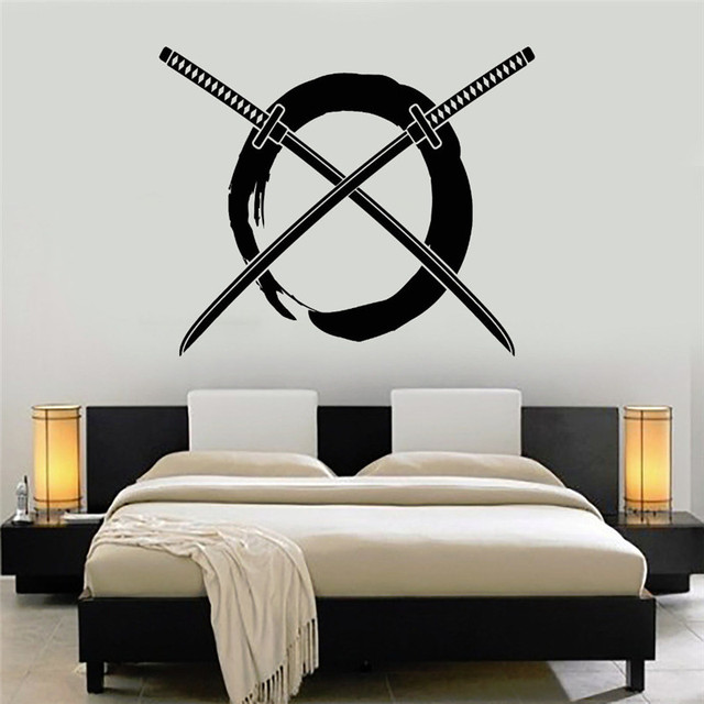 Enso Circle Vinyl Wall Stickers Home Decor Bedroom Samurai Art - Japanese wall decals