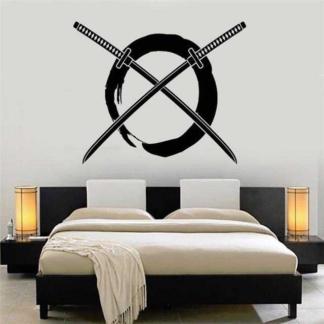 Enso Circle Vinyl Wall Stickers Home Decor Bedroom Samurai Art - Japanese wall decals