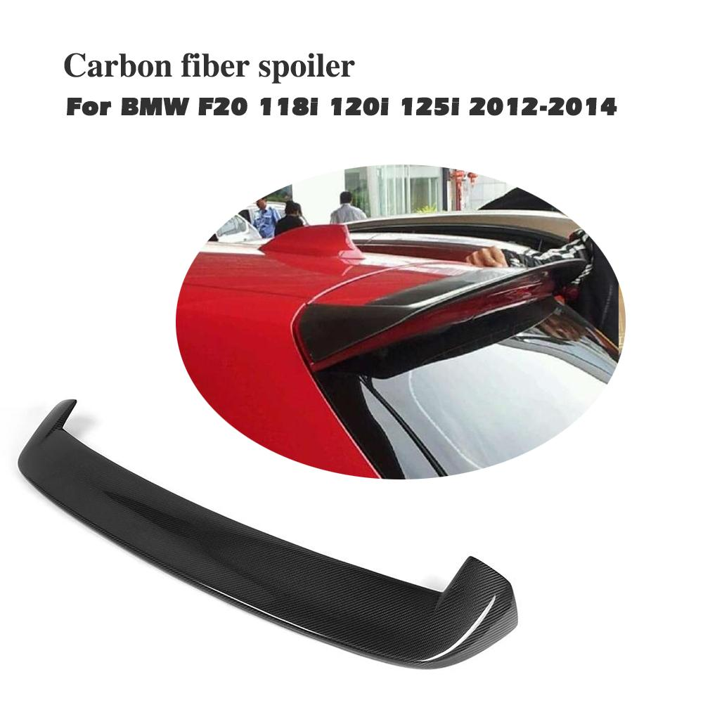 Carbon Spoiler for <font><b>BMW</b></font> <font><b>F20</b></font> 2012-2018 116i <font><b>118i</b></font> 125i <font><b>F20</b></font> F21 Design Carbon Fiber Rear wing image