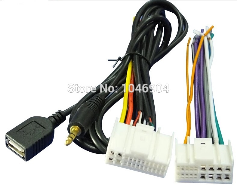 FREE SHIPPING Wiring Harness Adapter Plug For Hyundai IX35 Elantra Santa Fe Sonata WITH USB cable aliexpress com buy free shipping wiring harness adapter plug for Wire Harness Assembly at panicattacktreatment.co