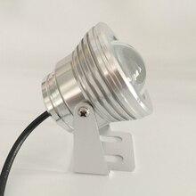 Luz de inundación led de alta potencia de 10W impermeable para lámpara de jardín al aire libre, luz led sumergible, entrada de 12V