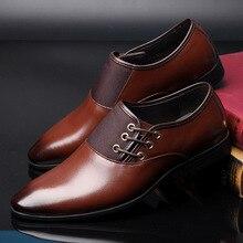 9cb7c0a39b25 Designer Herren Leder Casual Schuhe Business Gentleman Wohnungen Lace Up  Oxford Große Größe 38-47