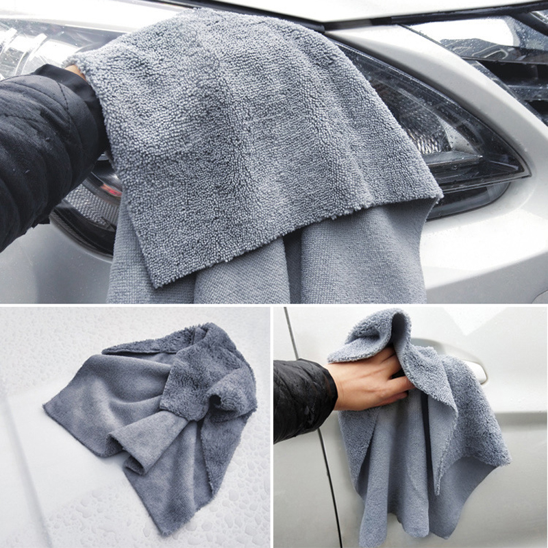 Image 2 - 40*40cm Edgeless Microfiber Towel Car Cleaning Car Wash Detailing Premium Super Absorbent Towel For Car Wash Drying Cloth 2019-in Sponges, Cloths & Brushes from Automobiles & Motorcycles